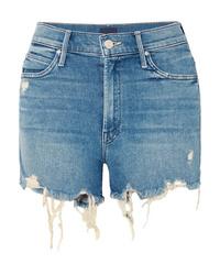 Pantalones cortos vaqueros desgastados azules de Mother