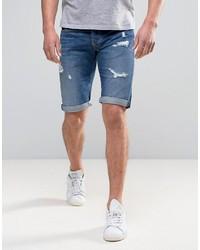 Pantalones cortos vaqueros desgastados azules de Pepe Jeans