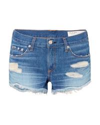 Pantalones cortos vaqueros desgastados azules de Rag & Bone