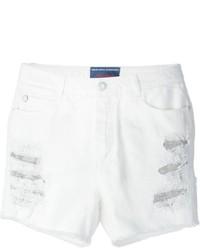 Pantalones cortos vaqueros desgastados blancos de Ermanno Scervino