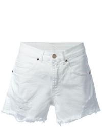 Pantalones cortos vaqueros desgastados blancos de Marcelo Burlon County of Milan