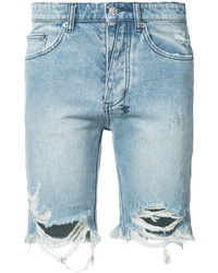Pantalones cortos vaqueros desgastados celestes de Ksubi