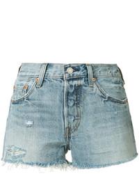 Pantalones cortos vaqueros desgastados celestes de Levi's