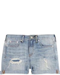 Pantalones cortos vaqueros desgastados celestes de Madewell