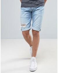 Pantalones cortos vaqueros desgastados celestes de Pepe Jeans