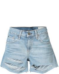 Pantalones cortos vaqueros desgastados celestes de Rag & Bone
