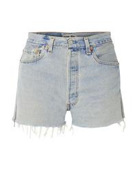 Pantalones cortos vaqueros desgastados celestes de RE/DONE