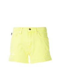 Pantalones cortos vaqueros en amarillo verdoso de Love Moschino