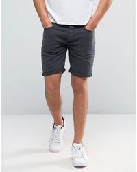 Pantalones cortos vaqueros en gris oscuro de Selected