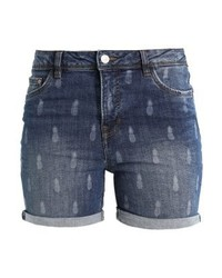 Pantalones Cortos Vaqueros Estampados Azules de Tom Tailor