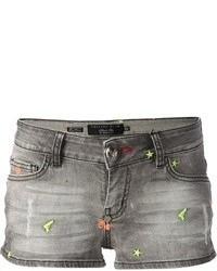 Pantalones cortos vaqueros grises de Philipp Plein