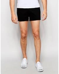 Pantalones cortos vaqueros negros de Asos