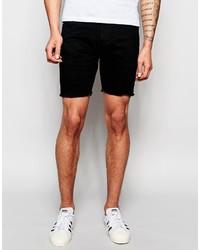 Pantalones cortos vaqueros negros de Brave Soul