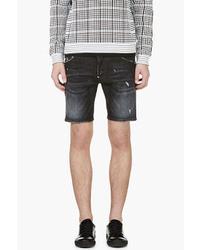 Pantalones cortos vaqueros negros de DSquared