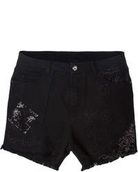 Pantalones cortos vaqueros negros de Ermanno Scervino