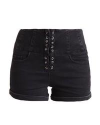 Pantalones Cortos Vaqueros Negros de New Look