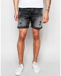 Pantalones cortos vaqueros negros de ONLY & SONS