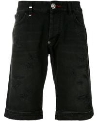 Pantalones cortos vaqueros negros de Philipp Plein