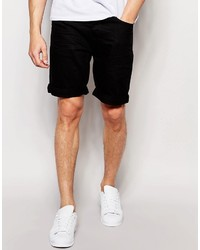 Pantalones cortos vaqueros negros de Pull&Bear