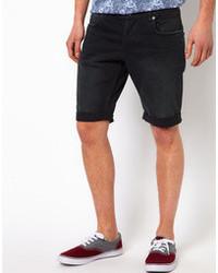 comprar popular 5d1ba 53f54 Comprar unos pantalones cortos vaqueros negros Selected ...