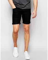 Pantalones cortos vaqueros negros de Solid