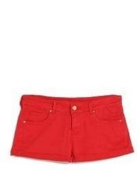 Pantalones cortos vaqueros rojos