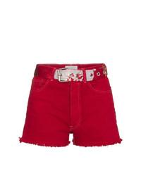 Pantalones cortos vaqueros rojos de Beau Souci