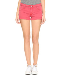 Pantalones cortos vaqueros rojos de Hudson