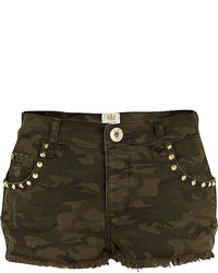 Pantalones cortos vaqueros verde oliva