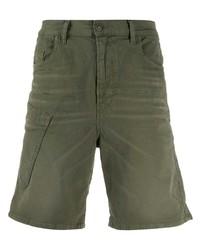 Pantalones cortos vaqueros verde oliva de Diesel