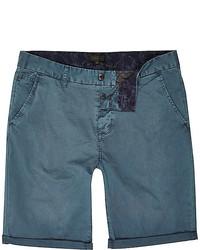 Pantalones Cortos Verde Azulado