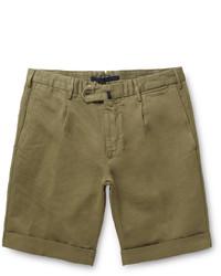 Pantalones cortos verde oliva de Incotex