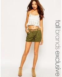 Pantalones cortos verde oliva de Vero Moda