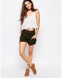 Pantalones cortos verde oscuro de Only