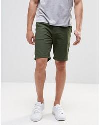Pantalones cortos verde oscuro de Pull&Bear
