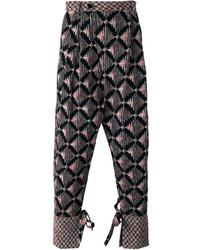 Pantalones de algodón azul marino de Henrik Vibskov
