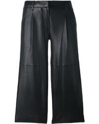 Pantalones de cuero negros de MICHAEL Michael Kors