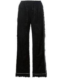 Pantalones de encaje negros de Dolce & Gabbana