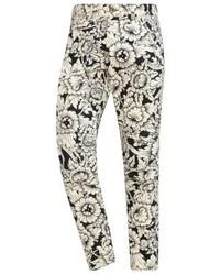 Pantalones de Flores Blancos