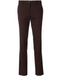 Pantalones de lana burdeos de Etro