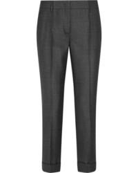 Pantalones de Lana Gris Oscuro de Prada