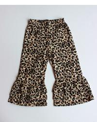 Pantalones de leopardo marrónes