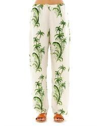 Pantalones de pijama blancos