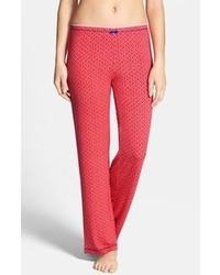 Pantalones de pijama con estampado geométrico rojos