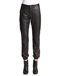 Pantalones de Pijama de Cuero Negros de Rag and Bone