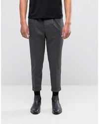 Pantalones de Rayas Verticales Gris Oscuro de Selected