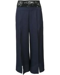 Pantalones de seda azul marino de Fleur Du Mal