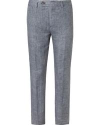 Pantalones de Tartán Azules de Brunello Cucinelli