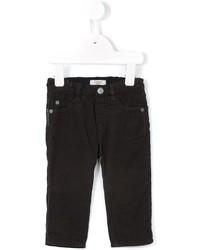Pantalones en marrón oscuro de Armani Junior