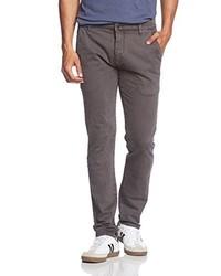 Pantalones Gris Oscuro de Solid